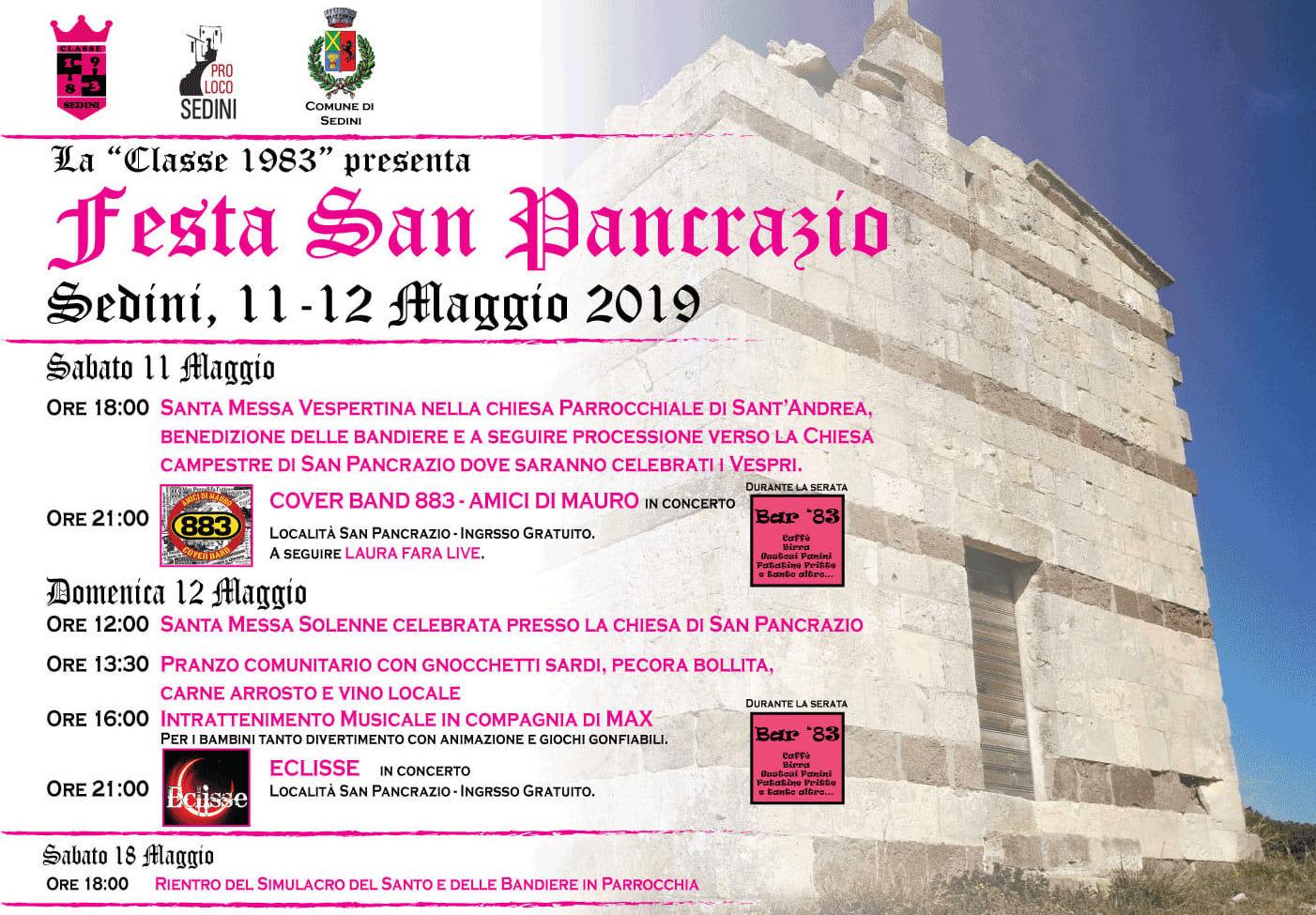 Festa di San Pancrazio 2019 - Sedini